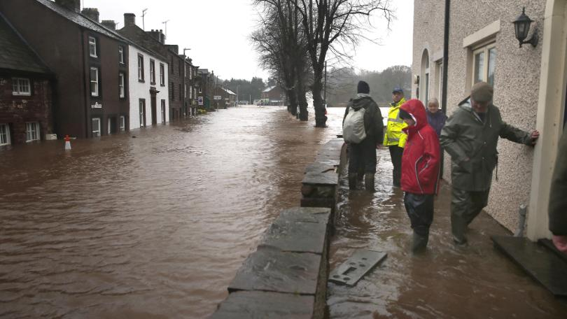 Cumbrian village hit by flooding