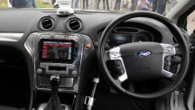 The interior of a driverless car, as a cyber-security expert warned of the dangers of hacking