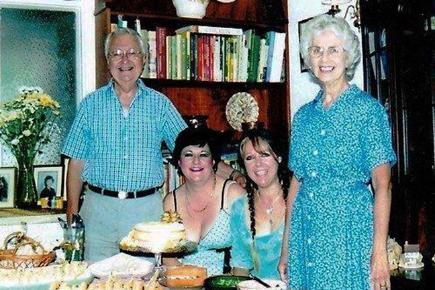 Dad Jimmy, sister Cathy, Claire and Eileen
