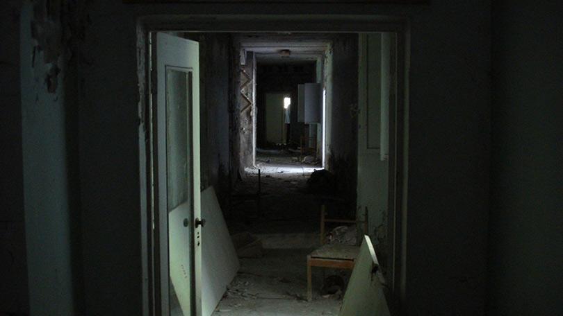 Dark abandoned town