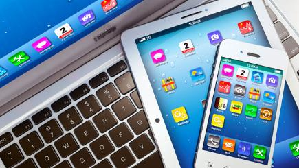 Phone tablet and laptop