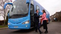 David Cameron is greeted by Chippenham Conservative candidate, Michelle Donelan