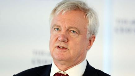 David Davis laughs off Boris Johnson's 'go whistle' remark over Brexit bill