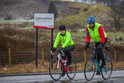 Davina faces freezing temperatures for Sport Relief