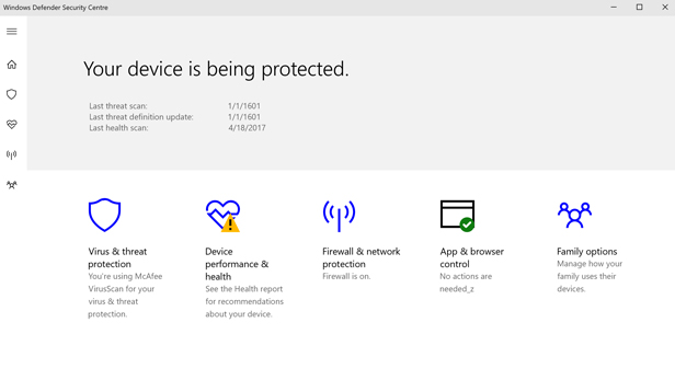What is the Windows Defender Security Center? - BT