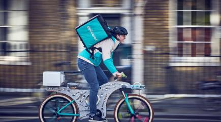 Deliveroo recycles unused kitchen gadgets into delivery bicycle