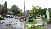 The Neighbours tornado leaves a path of destruction on Ramsay Street