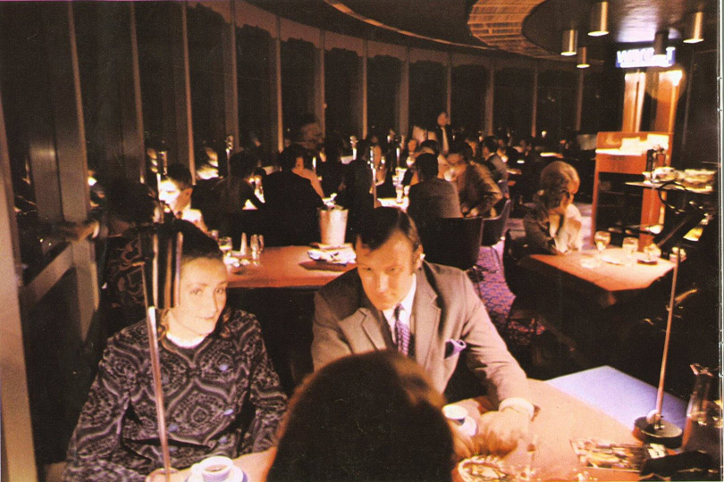 Diners in the BT Tower restaurant. 1966.