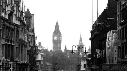 Black and white picture of Big Ben