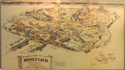 Disneyland's first colour map fetches £556000 at auction