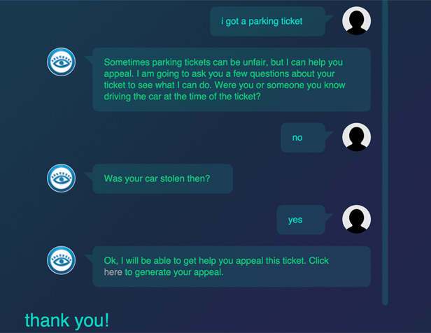 Robot Lawyer conversation