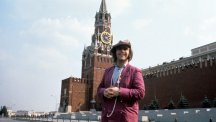 Elton John in Red Square, Moscow.