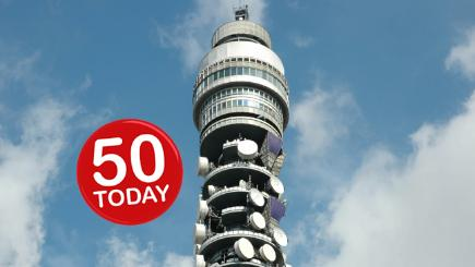 The BT Tower is 50 today