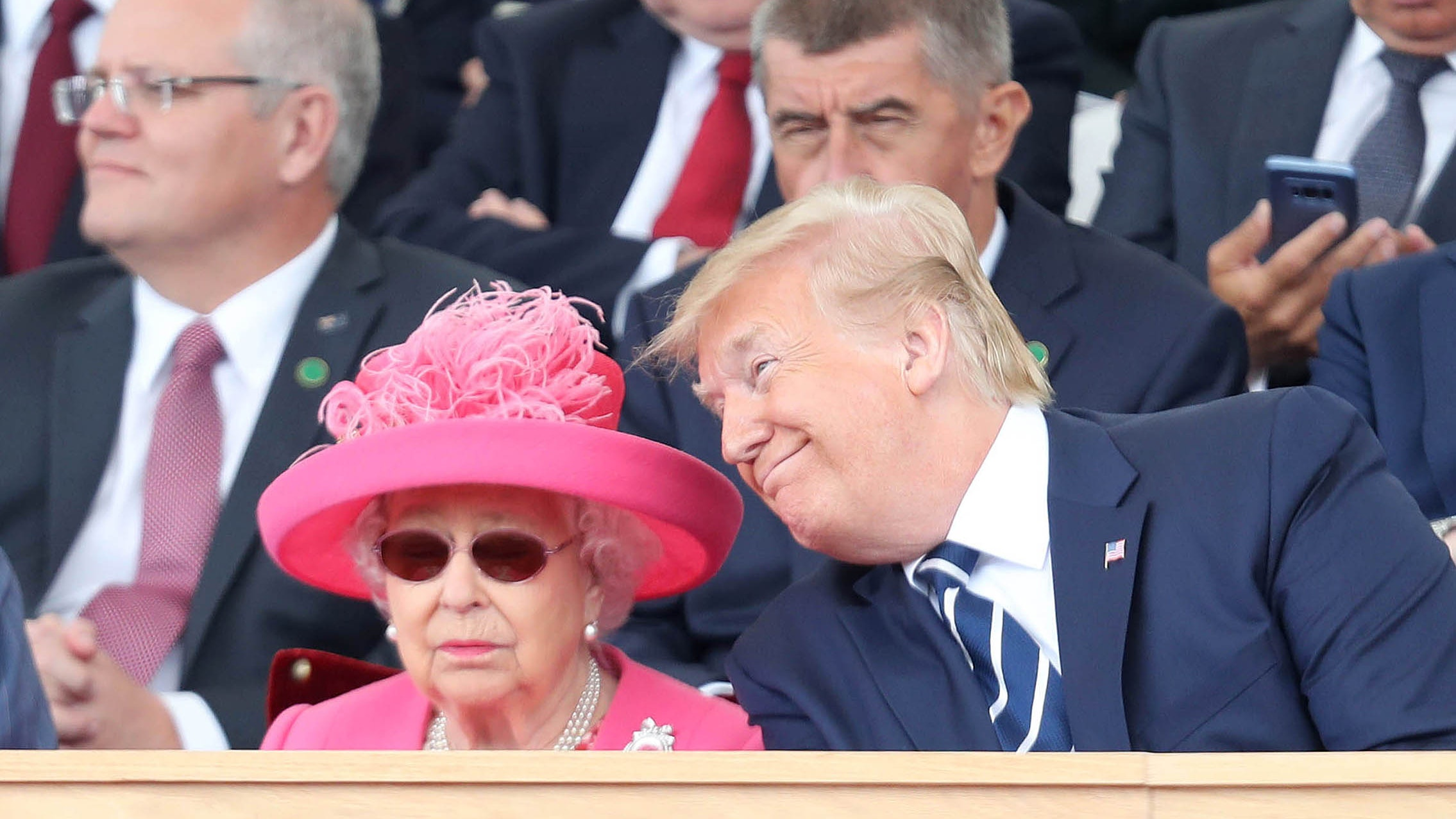 News images of Donald Trump's state visit to the UK