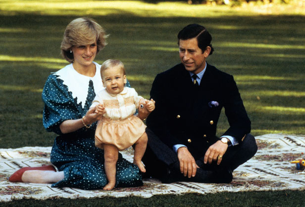 Prince William with his parents on their tour of Australia and New Zealand in 1983.