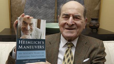 Heimlich uses his manoeuvre for first time at 96