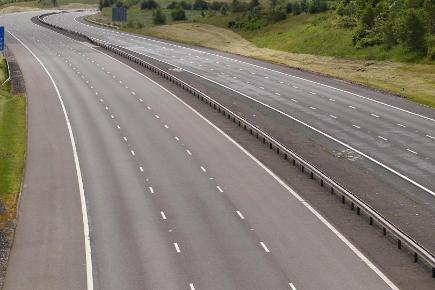 A driver died in a collision with a lorry which shut a section of the M6