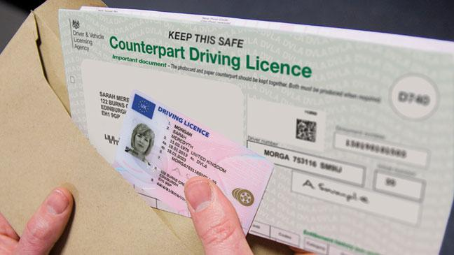 - You Bt For Of Means Paper Driving Licence Counterpart The What Scrapping