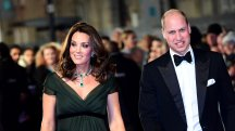 Duchess of Cambridge stands out in dark green as stars wear black for Baftas
