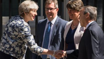 Theresa May announces pact with Northern Ireland's conservative DUP