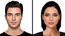 A composite of the perfect face was put together using e-fit software normally used by UK police (Taylor Herring/PA)