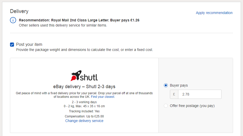 How to use the eBay Shutl service for delivering packages | BT