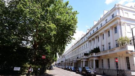 Eaton Square in London's Belgravia district has been crowned the most expensive street across England and Wales
