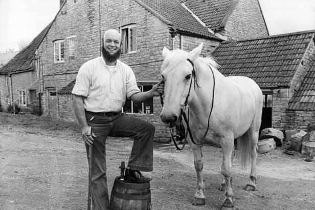 Michael Eavis, the owner of the festival's Pilton Farm home, in 1979.