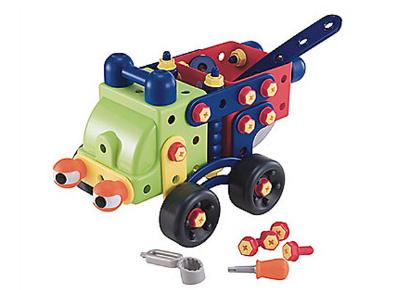 Wheelbarrow robot made Early Learning Centre children's building kit