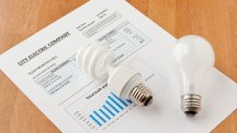 Elec bill and light bulb