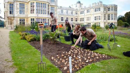 English Heritage gardeners are planting 25,000 bulbs at historic gardens in their care (English Heritage/PA)