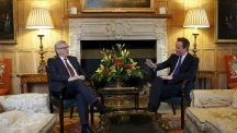 European Commission president Jean-Claude Juncker meets David Cameron at Chequers