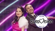 British act Electro Velvet in rehearsals for the 2015 Eurovision Song Contest