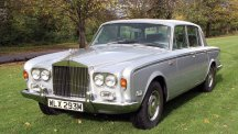 Rolls Royce Silver Shadow in metallic silver.