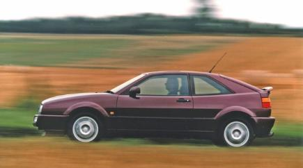 A 1994 Volkswagen Corrago VR6 in motion.