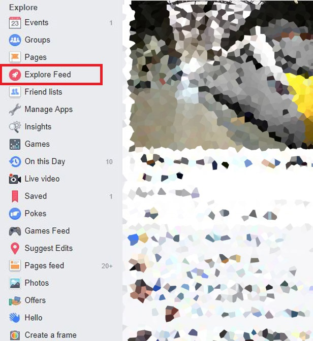 Facebook Explore second screenshot