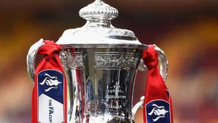 The FA Cup, which will be contested by Arsenal and Aston Villa this afternoon.