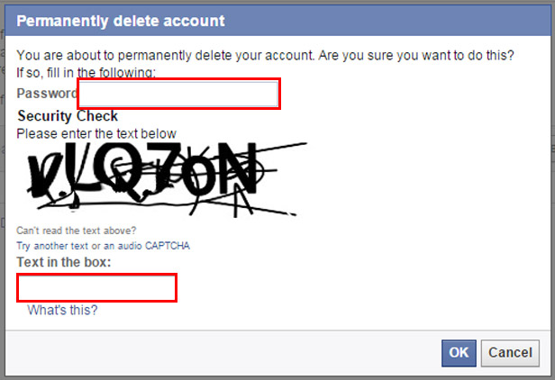 Delete your Facebook account