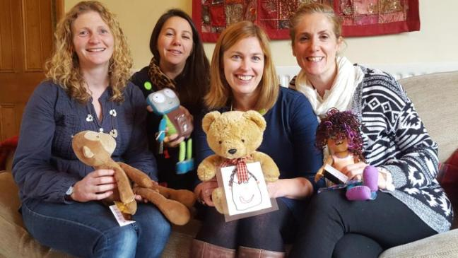 Project Paddington volunteers, Mags Kelly, Sian Thomas, Joy French and Nicole Brown with their teddies