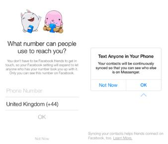 how to find phone number from facebook messenger