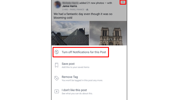 Stop unwanted Facebook notifications