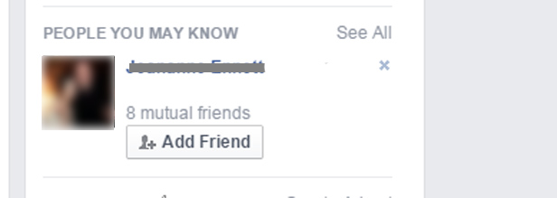 Facebook - people you may know