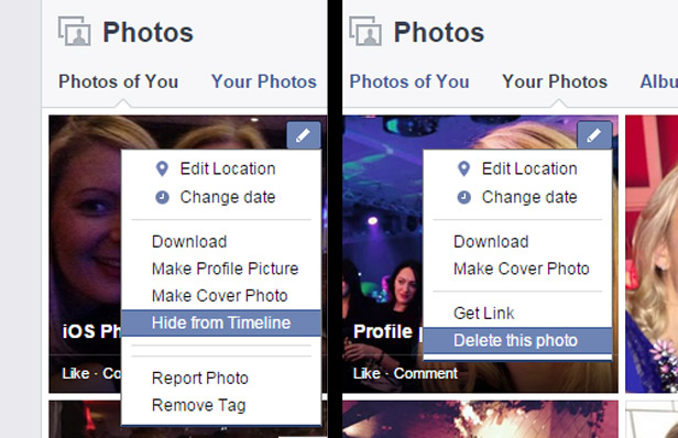 Facebook privacy photos
