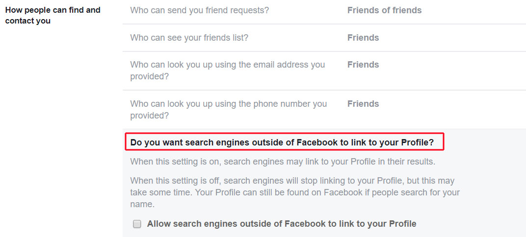 FACEBOOK TIMELINE SEARCH