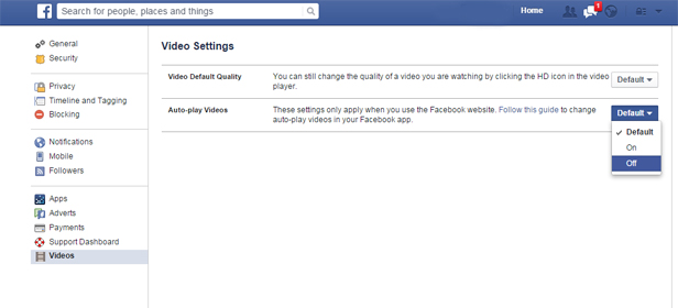 Facebook  video autoplay pc 2