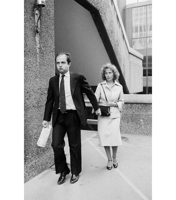 Roberto Calvi's son Carlo and widow Clara at the inquest into his death held in London in 1983.