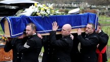 Family pays tribute to life support withdrawal case Pc at funeral