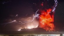 The Calbuco volcano erupted in spectacular fashion (AP)
