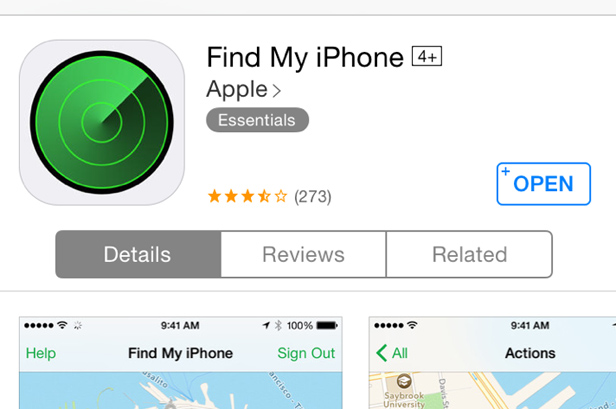 find my iphone app lost phone