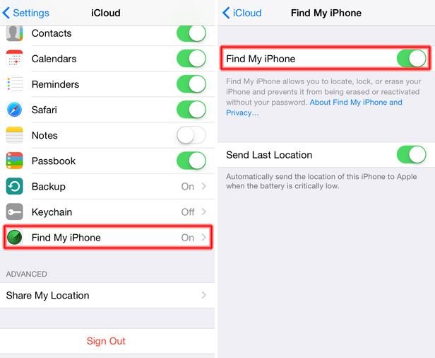 ICLOUD NOT FINDING MY IPHONE